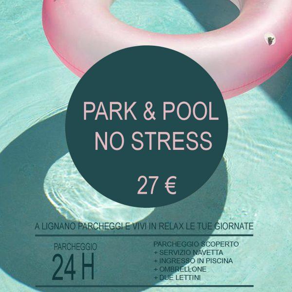 parcheggio e piscina a lignano
